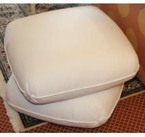 Pouf PATAPOUF en tissus blanc