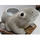 Crapaud chinois en porcelaine blanche