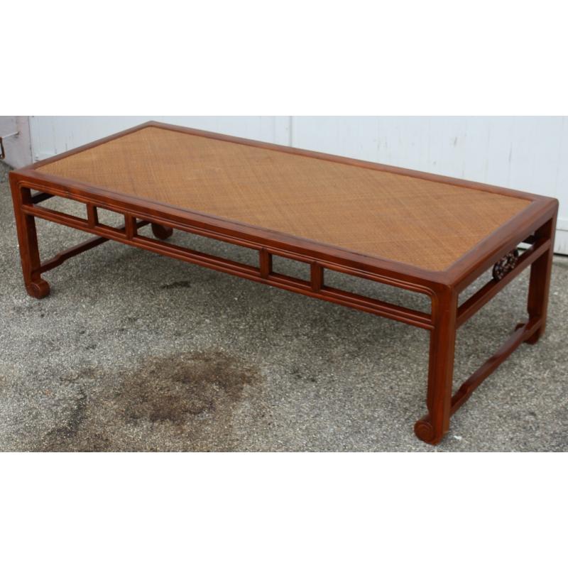 table basse chinoise avec dessus en rotin sur moinat sa. Black Bedroom Furniture Sets. Home Design Ideas