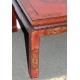 Table basse chinoise en laque rouge