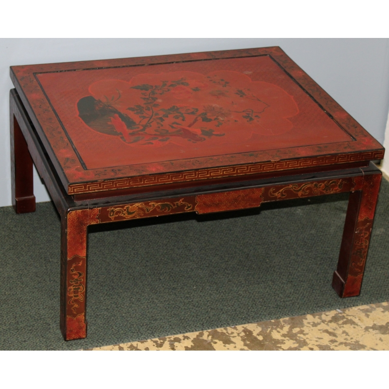 Moinat sa antig edades y decoraci n en rolle y ginebra - Table basse rouge laque ...