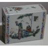 """Oreiller chinois en porcelaine """"Deux femmes"""""""