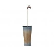Fontaine LED seau en zinc