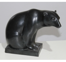 "Bronze ""Ours blanc"" signé Y. LARSEN"