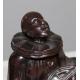 """Sculpture en régule """"Pierrot assis"""""""