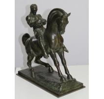 "Bronze ""Cavalier"" signé Fr. SCHMIED 1932"