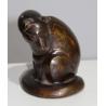 "Bronze ""Genette"", monogrammé G.B"