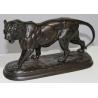 """Bronze """"Tigre marchant"""", signé E. DELABRIERRE"""