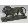 "Bronze ""Lion marchant"", signé BARYE"