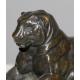 "Bronze ""Lionne"", signé BARYE"