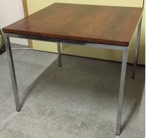 Table basse en palissandre et chrome