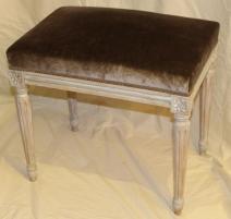 Tabouret rectangulaire style Louis XVI