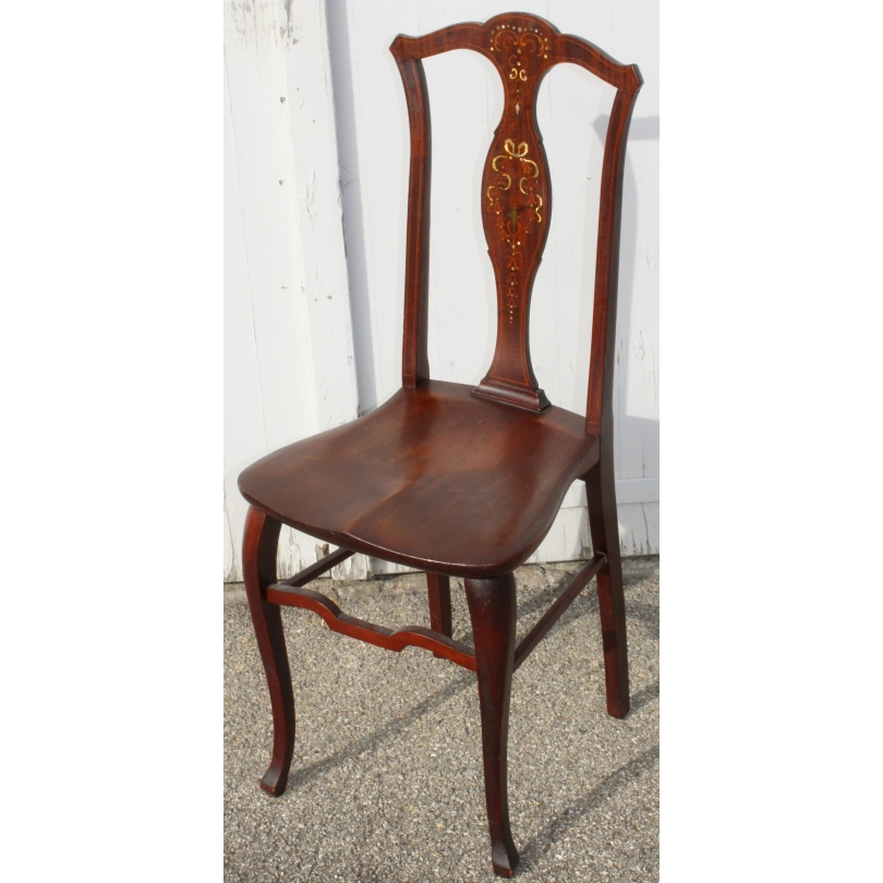 chaise américaine avec incrustations en nacre sur moinat sa