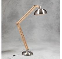 Lampe de lécture en bois et métal brossé