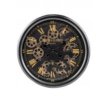 Horloge avec mécanisme mouvant ronde