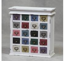 Commode à 20 tiroirs multicolores