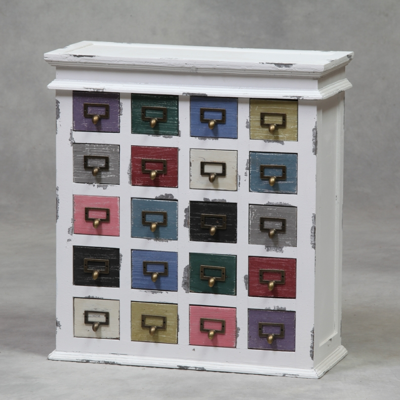 commode 20 tiroirs multicolores sur moinat sa antiquit s d coration. Black Bedroom Furniture Sets. Home Design Ideas