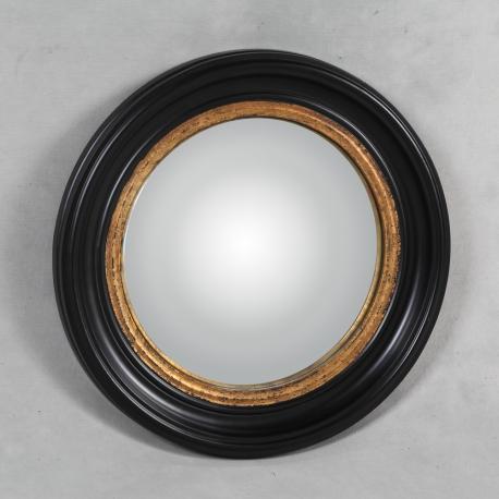 miroir convex cadre noir et or moyen mod le sur moinat sa antiquit s d coration. Black Bedroom Furniture Sets. Home Design Ideas
