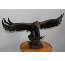 Bronze Aigle signé Jean BARYE