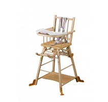 Chaise haute transformable Marcel Naturel