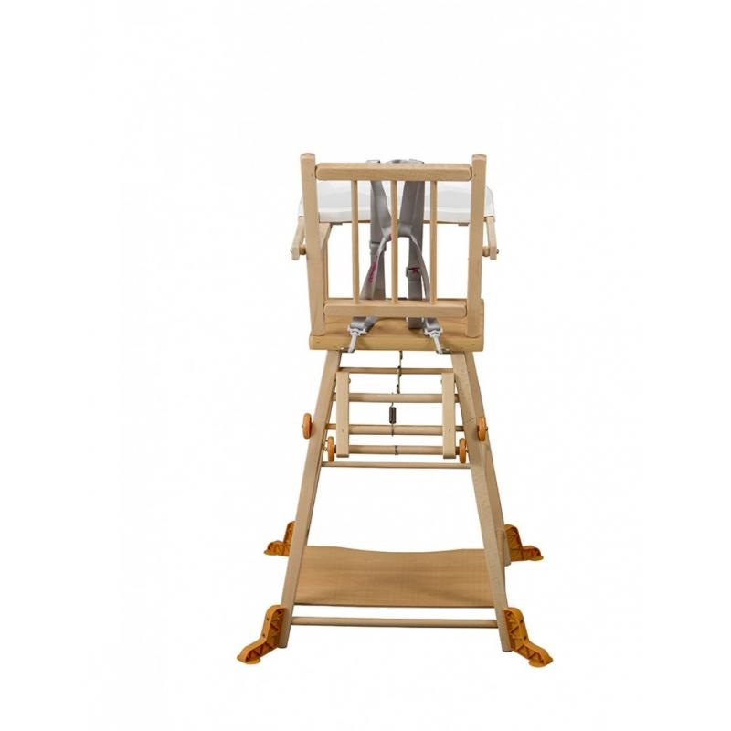 Chaise haute transformable marcel naturel sur moinat sa - Quand mettre bebe dans une chaise haute ...