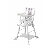 Chaise haute transformable Marcel Blanche