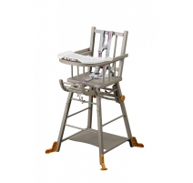 Chaise haute transformable Marcel Grise