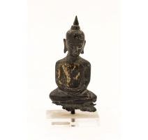 Bronze petit bouddha thaï, socle plexi