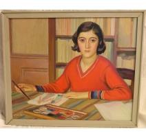 """Tableau """"La peinture"""" signé A. CACHEUX"""