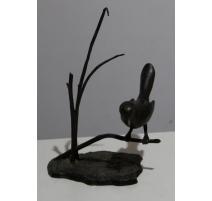 """Bronze """"Oiseau dans les herbes"""" signé ROTH"""