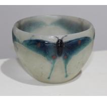 """Vase """"Papillons bleus"""" signé G. ARGY-ROUSSEAU"""