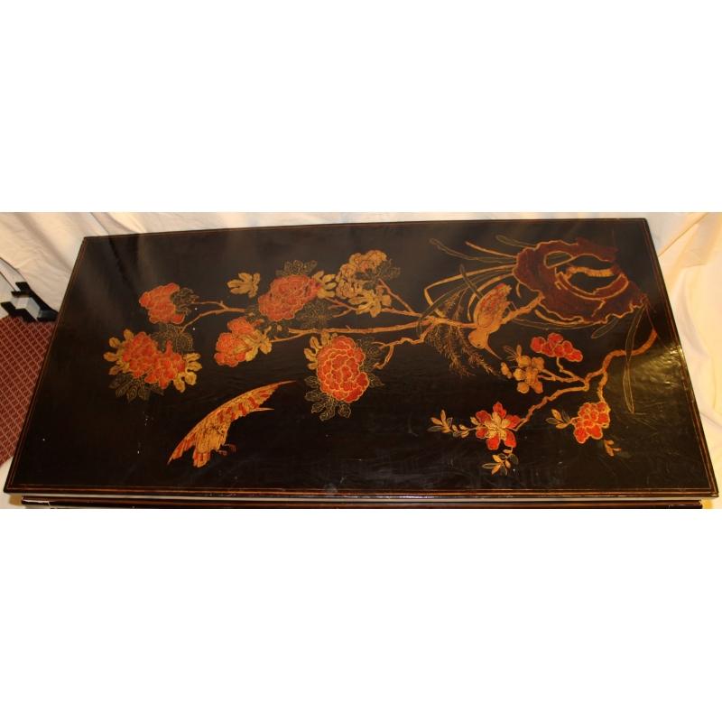 table basse chinoise en laque noire sur moinat sa antiquit s d coration. Black Bedroom Furniture Sets. Home Design Ideas