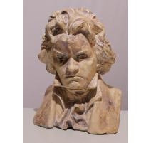 Buste de Beethoven en plâtre signé G. SETTA 1935