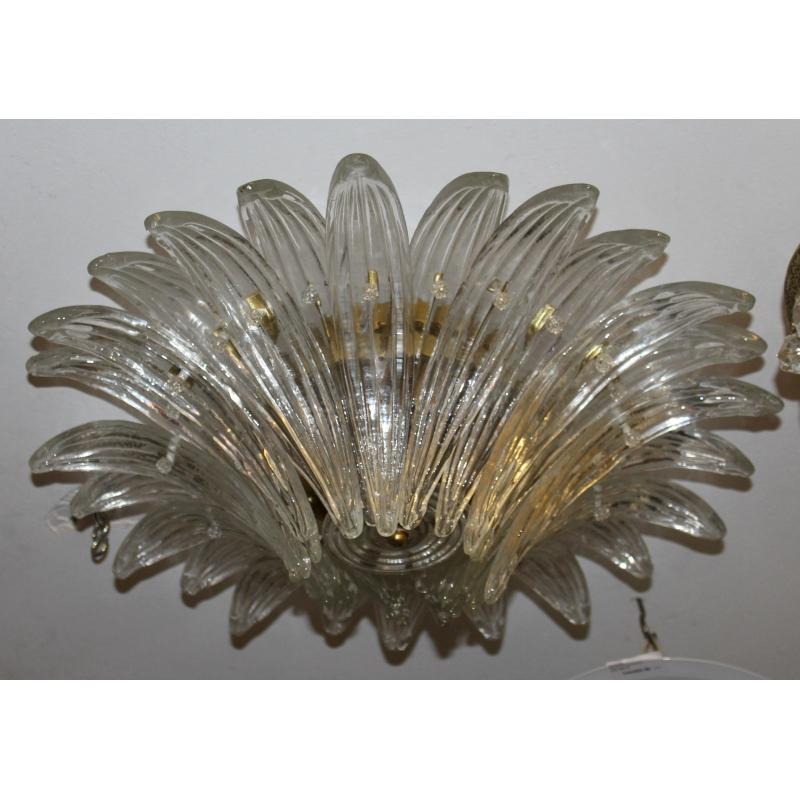 plafonnier fleur en verre de murano moinat sa antiquit s d coration. Black Bedroom Furniture Sets. Home Design Ideas