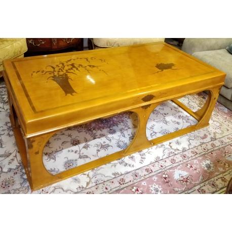 Table Basse Chinoise En Laque Jaune Sur Moinat Sa Antiquites Decoration