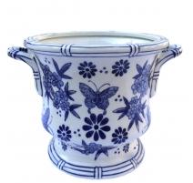 """Cache-pot """"Grand Tour"""" avec anses, en porcelaine"""
