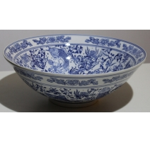 "Grand plat creux ""Grand Tour"" en porcelaine"