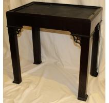 Console ou support de cabinet en bois noir