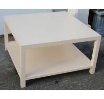 Table basse carrée à 2 plateaux