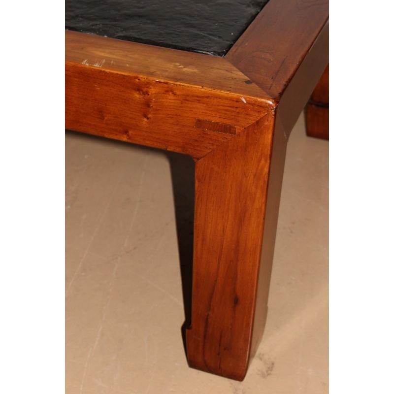 Table basse carrée à plateau en ardoise - Moinat SA - Antiquités ...