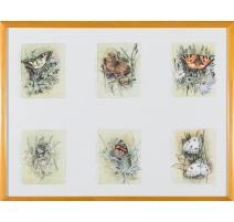 """Lithographie """"Les papillons"""" signée COSANDEY"""
