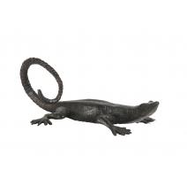 Petit Lézard en bronze patine noire