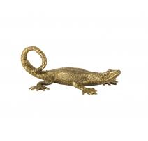 Petit Lézard en bronze patine dorée