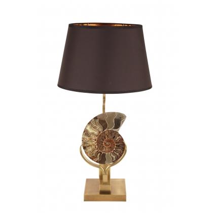 lampe ammonite socle carr dor moinat sa. Black Bedroom Furniture Sets. Home Design Ideas