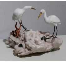 "Sculpture ""Ibis et grenouilles"""
