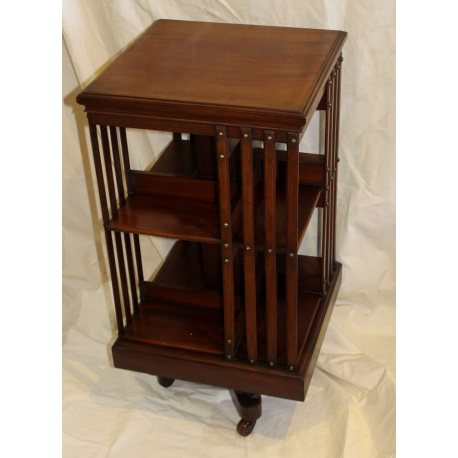 biblioth que tournante anglaise en acajou moinat sa antiquit s d coration. Black Bedroom Furniture Sets. Home Design Ideas