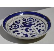 """Assiette en céramique iranienne """"Oiseau"""""""