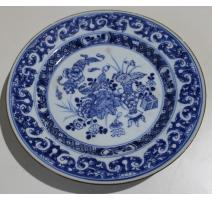 Assiette en porcelaine décor canard