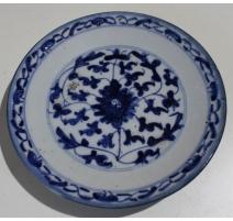 Petite assiette en porcelaine décor fleur