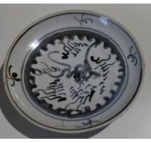 Petite assiette en porcelaine décor dragon